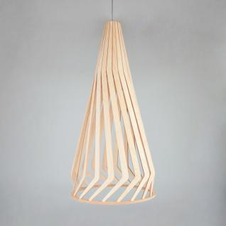 Licht-Trend Woody / Holz Pendelleuchte Ø 34 cm / Buche Hängelampe Hängeleuchte