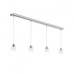 Eglo 94356 Pancento LED Hängeleuchte 4 x 45 W Stahl Chrom Kunststoff klar satiniert