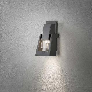 Konstsmide 7979-370 Potenza Aussen-Wandleuchte Anthrazit klares Acrylglas