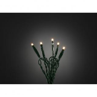 Micro LED Lichterkette 10 Warmweiße Dioden 24V Innentrafo dunkelgrünes Kabel