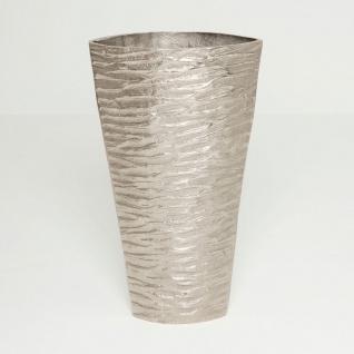 Holländer 207 3540 Dekovase Cascata Aluminium Silber
