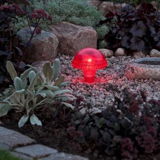 Assisi Pilz Solar LED Leuchte Rot Solar Gartenlampe Gartenleuchte