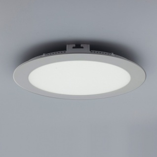 Licht-Design 30827 Einbau LED-Panel 2140lm Dimmbar Ø 30cm Neutral Silber