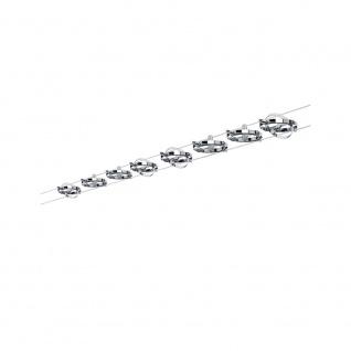 Paulmann 94153 Wire System Cardan max 8x10W GU5, 3 Chrom matt/Chrom 230/12V 80VA Metall