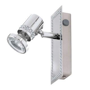 Eglo 94286 Bonares LED Spot 1 x 33 W Stahl Chrom Kristall klar