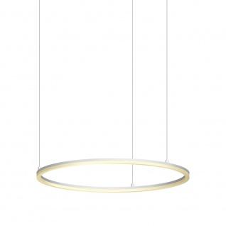 s.LUCE pro LED-Hängelampe Ring L Dimmbar Ø80cm Weiß Wohnzimmer Ring Hängeleuchte