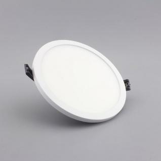Einbau LED-Panel Ultra mit Mini-Rahmen 1440lm, Ø 14cm, warm