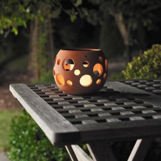 LED Solarlampe Genova Keramik Terracotta Solar Gartenlampe Gartenleuchte