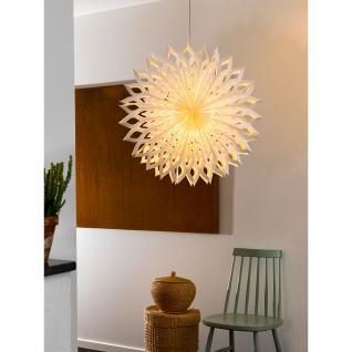 Konstsmide 2935-200 Weißer Papierstern, inkl. Anschlusskabel mit an/aus Schalter, ohne Leuchtmittel, E14 Lampenhalterung für Innenbereich