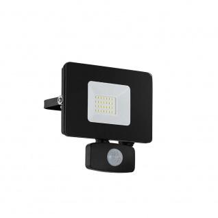 LED Gartenstrahler Faedo3 20W mit Sensor Schwarz