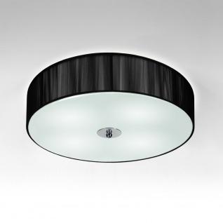 s.LUCE Twine L Deckenleuchte mit Textilschirm / Deckenlampe Schwarz