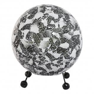 Bali Tischleuchte Muschelleuchte Mosaik Weiß - Vorschau