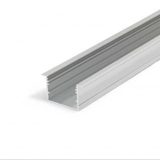 XXL Einbauprofil 200 cm / Alu-eloxiert ohne Abdeckung für LED-Strips