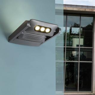 Lutec Mini LED Spot 2-flg. verstellbare Außenwandleuchte IP65 Anthrazit