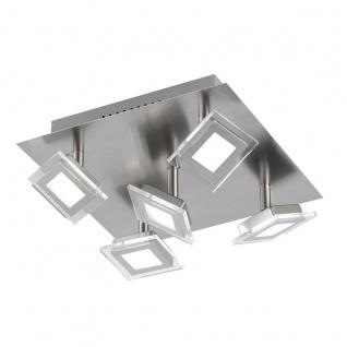 Wofi Cholet LED Deckenleuchte 5-flammig Nickel matt Deckenlampe