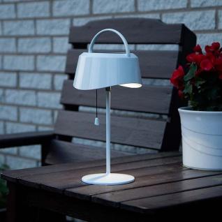 Premium LED Solar Tischleuchte Cervia Weiß Solar Gartenlampe Gartenleuchte