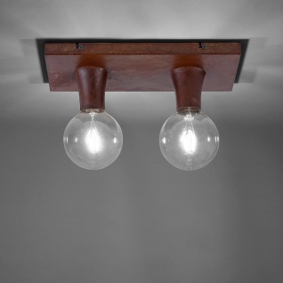 LeuchtenDirekt Deckenlampe Turn Me 2-flg. Rostfarben