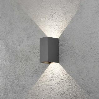 Konstsmide 7940-370 Cremona LED Aussen-Wandleuchte individuell verstellbarer Lichtaustritt Anthrazit klares Acrylglas