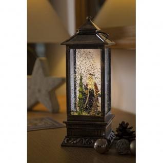 LED Schneelaterne mit Weihnachtsmann wassergefüllt 1 Warmweiße Diode batteriebetrieben für Innen - Vorschau 3
