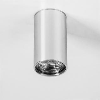 s.LUCE Pole S Aufbau-Deckenleuchte 10cm Alu-Glänzend Deckenlampe Aufbaulampe