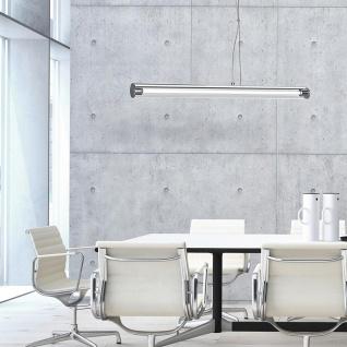 Licht-Trend Pipe Moderne Hängeleuchte mit Acrylrohr 90cm Chrom