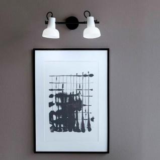 Nordlux 2er Wand- & Deckenspot Parson Schwarz, Opal Weiß