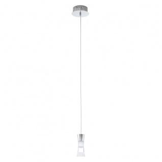 Eglo 94478 Pancento LED Hängeleuchte 1 x 5 W Stahl Chrom Kunststoff klar satiniert