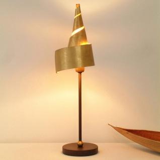 Holländer 300 K 12136 Tischleuchte Innovazione Eisen Braun-Schwarz-Gold