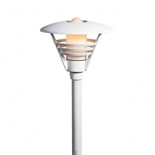 Konstsmide 502-250 Gemini Leuchtenkopf für Mastleuchte Weiß opales Glas