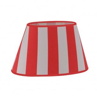 LeuchtenDirekt 80240-14 Mix-Up Lampenschirm Rot- Weiß gestreift