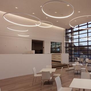 s.LUCE Ring S LED-Hängeleuchte Ø 40cm Chrom Wohnzimmer Hängelampe LED-Ring - Vorschau 4