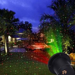 Maceda Laser Außenstrahler mit starren Lichtpunkten Rot Grün Gartenstrahler
