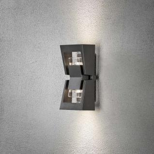 Konstsmide 7955-370 Potenza Aussen-Wandleuchte Anthrazit klares Acrylglas