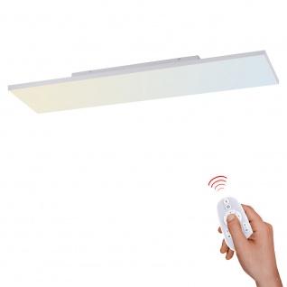 Licht-Trend Q-Flat 2.0 rahmenloses LED Deckenleuchte 100 x 25cm CCT + FB Weiß LED-Aufbaupanel