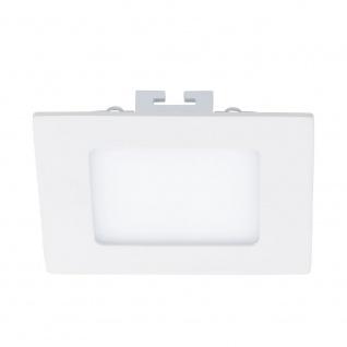 Fueva LED-Einbaupanel 12x12 600lm Warmweiß Weiß
