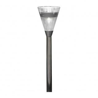 Assisi Solar LED Kegel stehend Edelstahl, Acrylglas Solar Gartenlampe Gartenleuchte