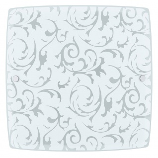 Eglo 90044 Scalea 1 Wand- & Deckenleuchte 2-flammig Weiß Mit Dekor