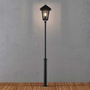 Konstsmide 437-750 Benu Mastleuchte 254cm Schwarz rauchfarbenes Acrylglas
