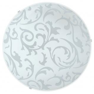 Eglo 90043 Scalea 1 Wand- & Deckenleuchte Ø 31, 5cm Weiß Mit Dekor