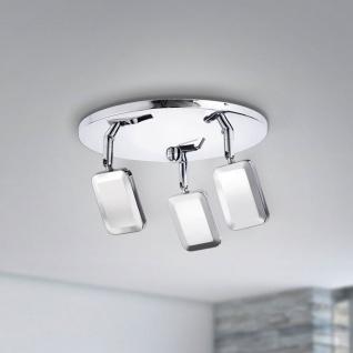 LeuchtenDirekt 11243-17 Wella LED Deckenleuchte 3 x 4, 20W 3000K Chrom - Vorschau 3