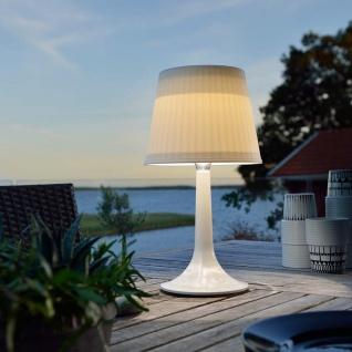 Solar LED Tischleuchte Assisi Weiß Solar Gartenlampe Gartenleuchte