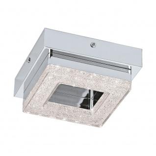 Eglo 95655 Fradelo LED Wand- & Deckenleuchte 400lm Chrom Klar