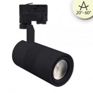 3-Phasen Power-LED Strahler 3200lm 35W 3000K warm Schwarz