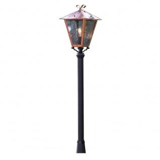 Konstsmide 431-900 Fenix Leuchtenkopf für Mastleuchte massiver Kupfer rauchfarbenes Acrylglas