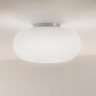s.LUCE Optix / Glas Deckenleuchte aus Opalglas / Ø 38 cm / Deckenlampe