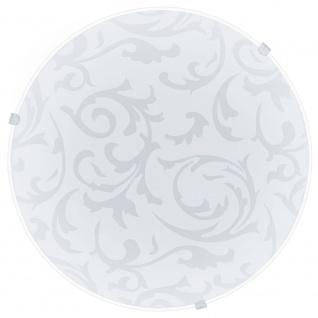 Eglo 91236 Mars Wand- & Deckenleuchte Ø 25cm Weiß Mit Dekor Weiß