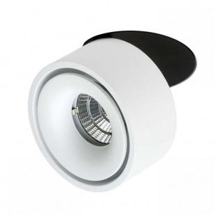 Licht-Trend LED Einbauleuchte 680lm Simple Weiß, Schwarz