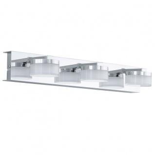 Eglo 94653 Romendo Bad Wandleuchte Stahl Chrom Kunststoff klar satiniert