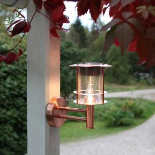 Premium LED Solar Wandleuchte Kupfer Solar Gartenlampe Gartenleuchte