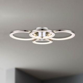 Licht-Trend Equal LED Deckenleuchte 4 flg. Nickel matt Chrom Deckenlampe